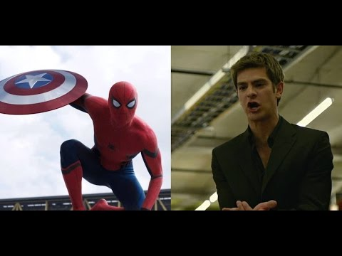 Civil War: La reazione di Andrew Garfield al nuovo Spider-Man