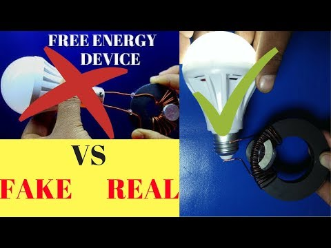 Free Energy Generator Light Bulb Using Magnet.Copper Fake vs Real 2018 New Project thumbnail
