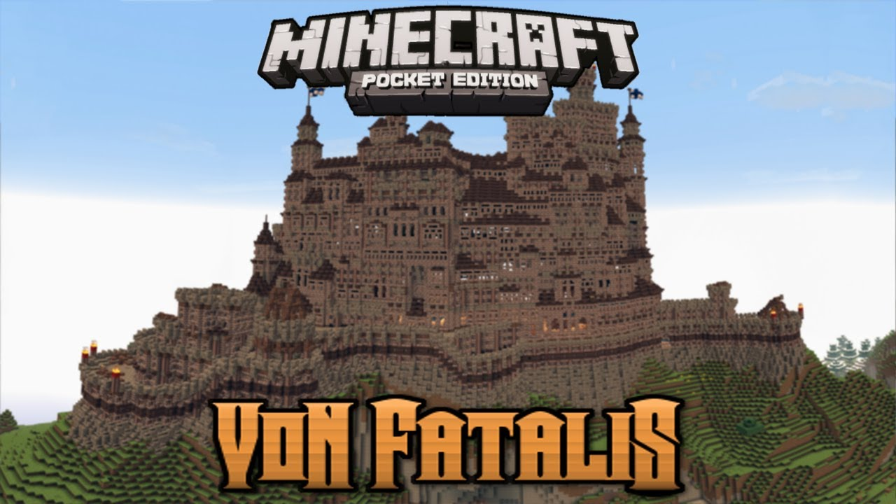 Minecraft Pocket Edition: BEST CASTLE BUILD EVER! - Von ...