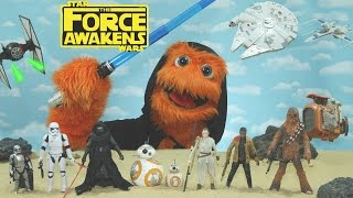 Star Wars: Episode VIII - The Force Awakens Review for kids by Fuzzy Puppet Toy review (Fan-Made)