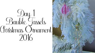 Day 1 of 10 Days of Christmas Ornaments with Cynthialoowho 2016