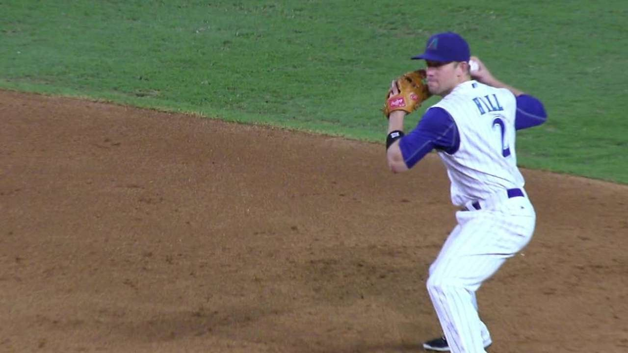 COL@ARI: Hill snares lienr, fires to first for two