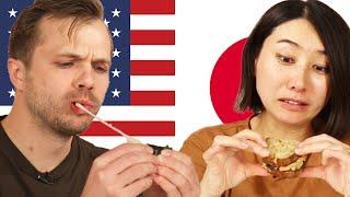 Tasty Producers Swap Their Favorite Snacks • Rie & Andrew •Tasty