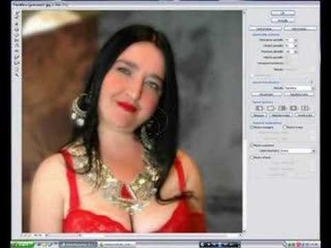 Makeover of a fat woman with photoshop