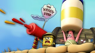 Roblox Animation - SPONGEBOB: Krusty Krab Food Fight! (Spongebob Movie)