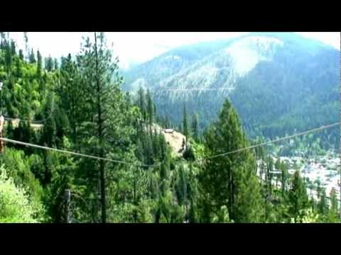Silver Streak Zipline Adventure above Wallace Idaho
