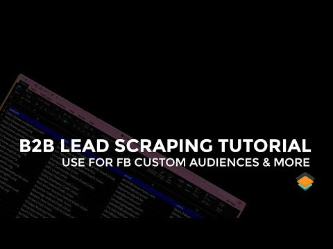 Digital Marketing Lead Scraping tutorial
