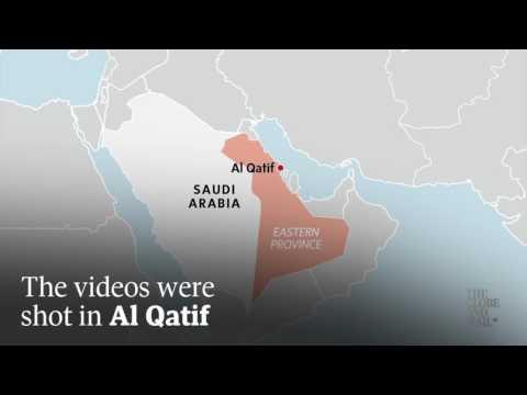 Footage shows Saudi authorities using light armoured vehicles against civilians