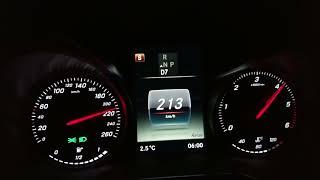 2018 Mercedes C220d Beschleunigung und Fahrleistungen