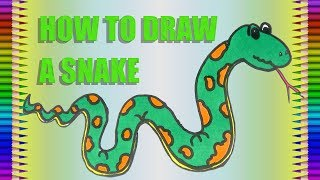 How to Draw A Snake Drawing|Animals|Fun Colour Art