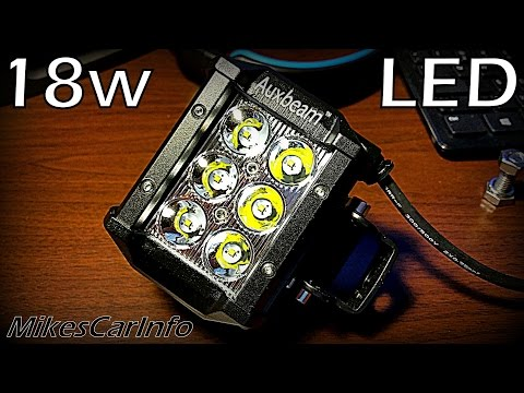Best Review of Auxbeam 18w Off Road LED Light.. with Torture Test!