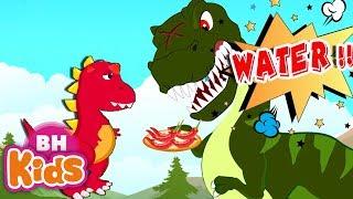 Dinosaurs eat chili Peppers PIZZA - Cartoons for Kids - Hoạt hình Khủng Long Bạo Chúa