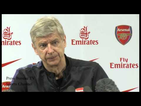 Arsene Wenger Pre Arsenal vs Wigan