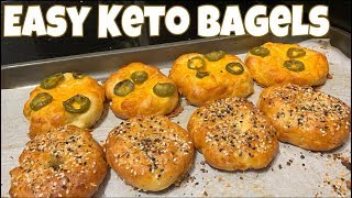 Easy Keto Bagels | Jalapeño Cheddar & Everything Seasoning | Great for Meal Prep!