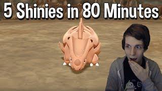 5 SHINY Pokemon in 80 MINUTES Reaction - Pokemon Let's Go Pikachu & Eevee