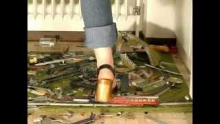 stomp and crush a trainset