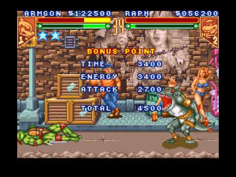 Teenage Mutant Ninja Turtles - Tournament Fighters - Every Character and Level - User video