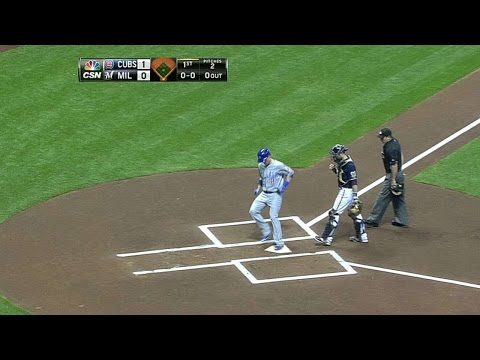 CHC@MIL: Coghlan hits solo shot to lead off the game