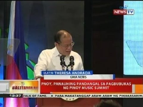 Bt: Pnoy, Panauhing Pandangal Sa Pagbubukas Ng Pinoy Music Summit video