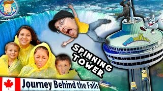 JOURNEY BEHIND THE FALLS + DINNER in the SKY! (FUNnel Vision Trip 2 Niagara Falls CANADA Vlog pt. 3)