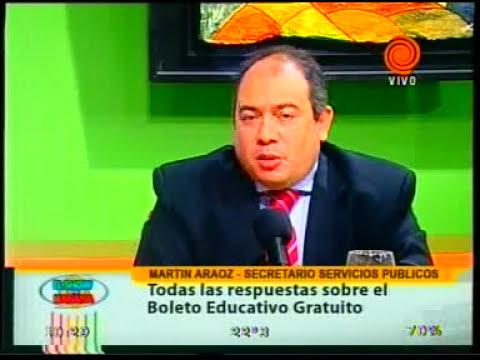 boleto educativo gratuito. Martín Araoz 20120227.3gp