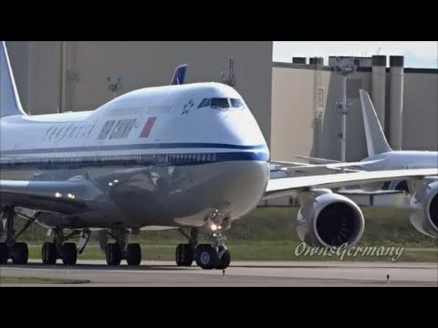 1st Air China 747-8i Slow Taxi & Take Off Test Flight @ KPAE Paine Field