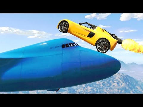 AWESOME ROCKET VOLTIC STUNTS IN GTA V & WINS IN GTA 5