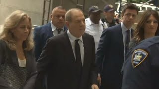 Harvey Weinstein arrives for court hearing in rape and sexual assault trial