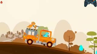 Dinosaur Game Cartoons: Fire Truck Rescue & Fire Fighter | FIRE TRUCK FOR KIDS | Videos For Kids