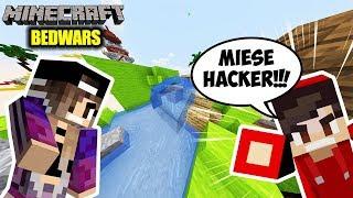 Minecraft: BEDWARS GEGEN DEN SCHLECHTESTEN HACKER DER WELT! Kaan & Nina töten Cheater mehrmals