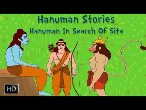 Hanuman Stories - Hanuman In Search Of Sita - Animated Short Stories For Kids video