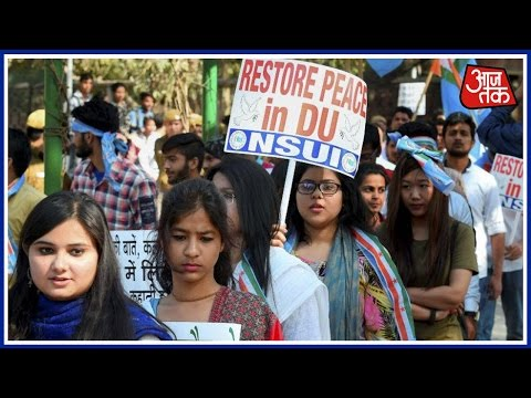 DU students march against Ramjas College violence