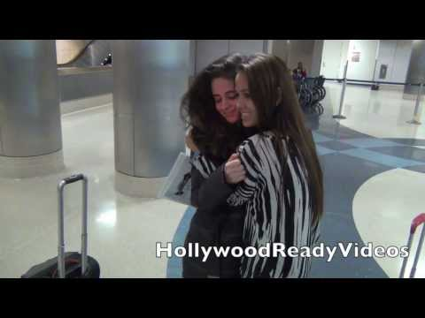 Fifth Harmony arrive at LAX airport in LA
