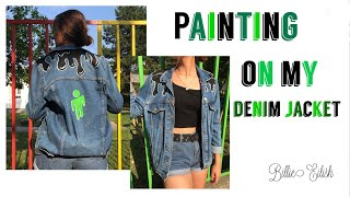 PAINTING MY CLOTHES || Billie Eilish