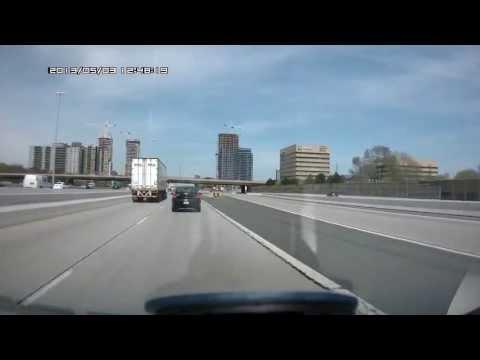 Must see!!! Driving in Toronto, Ontario, Canada. Highway 427 North and 401 East.