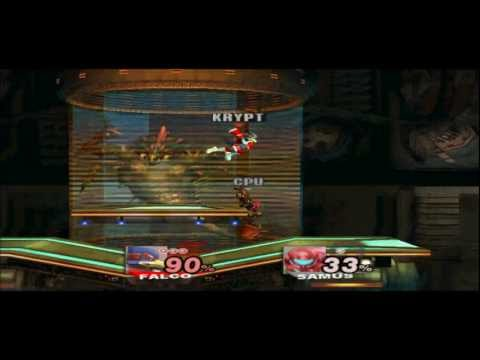 SSBB Falco vs Level 9 Samus (Texture Hacks)