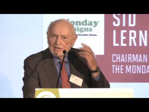 Sid Lerner speaking at the James Beard Foundation Food Conference