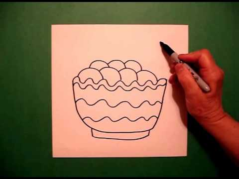 Mashed Potatoes Bowl How to Draw a Bowl of Mashed