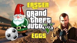 GTA V Easter Eggs Bola de futebol, Niko Bellic e Gnomo gay