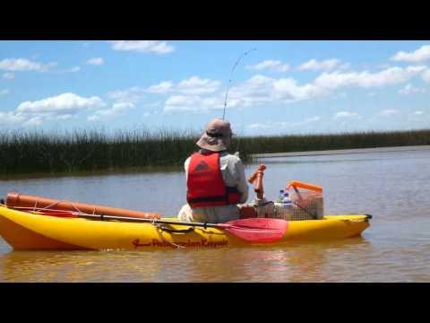 Pesca en Kayak arroyo Pacu