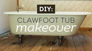 (5.81 MB) A Vintage Clawfoot Tub Makeover with Maison Blanche Paints Mp3
