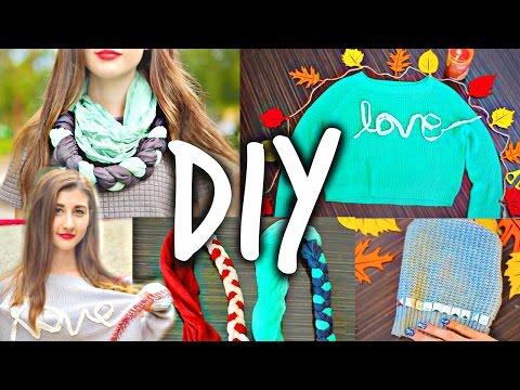 DIY For School: Cozy & Cute Fall DIY Clothes!