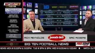 WI57   The Sports News   Jason's Deli B1G TEN Football News Week 2   09-09-18