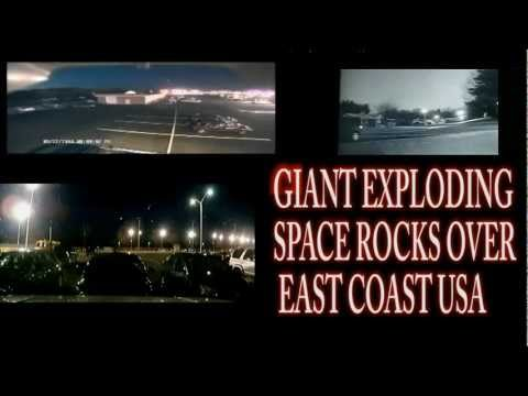 NY EastCoast FireBall Meteor. Flashes on ground. Missile defense?