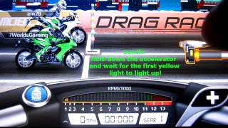 Drag Racing Bike Edition: How To Tune A Level 10 Ninja 1000R 10.408s 1/2 mile!