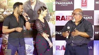 Ajay Devgan, ileana D'Cruz & Saurabh Shukla's FUNNY Moments At Raid Movie Trailer Launch