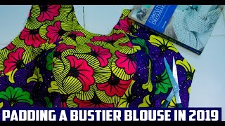 How To Pad A Bustier Blouse/Top Without Using a Pad in 2019