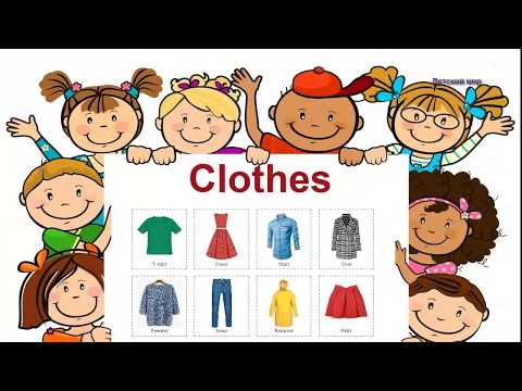 Clothes in English. Learn clothes. Английский детям.Одежда на английском языке.