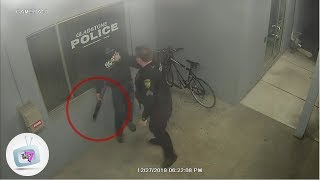 Guy Steals a Bicycle From a Police Station - Robbery Fail