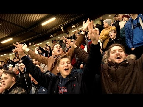 West Ham fans at Manchester United away day